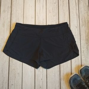 Lululemon Speed Shorts - Solid Black - 8
